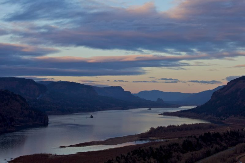 Columbia River Gorge at Twilight